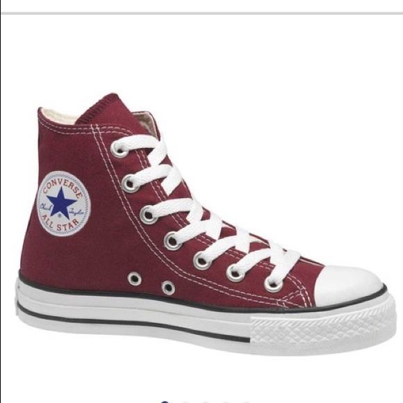3a987fb213b3 Converse Shoes - Dark Red HighTop Converse